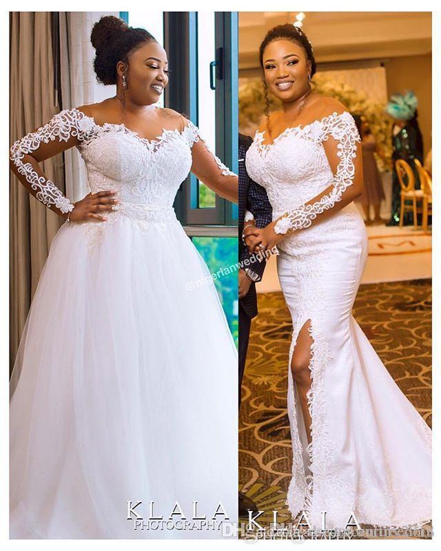 compre 2019 nuevo estilo de sudáfrica vestidos de novia tren