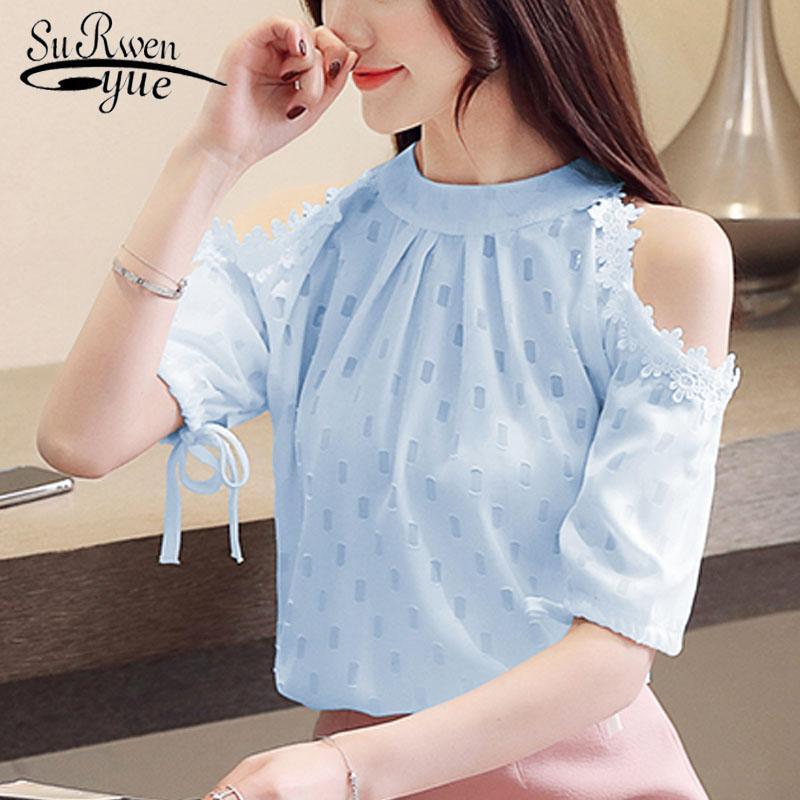 25f73abf2b blusas mujer de moda 2019 women tops and blouses ladies tops harajuku  chiffon blouse shirt bow Solid women clothes 4188 50