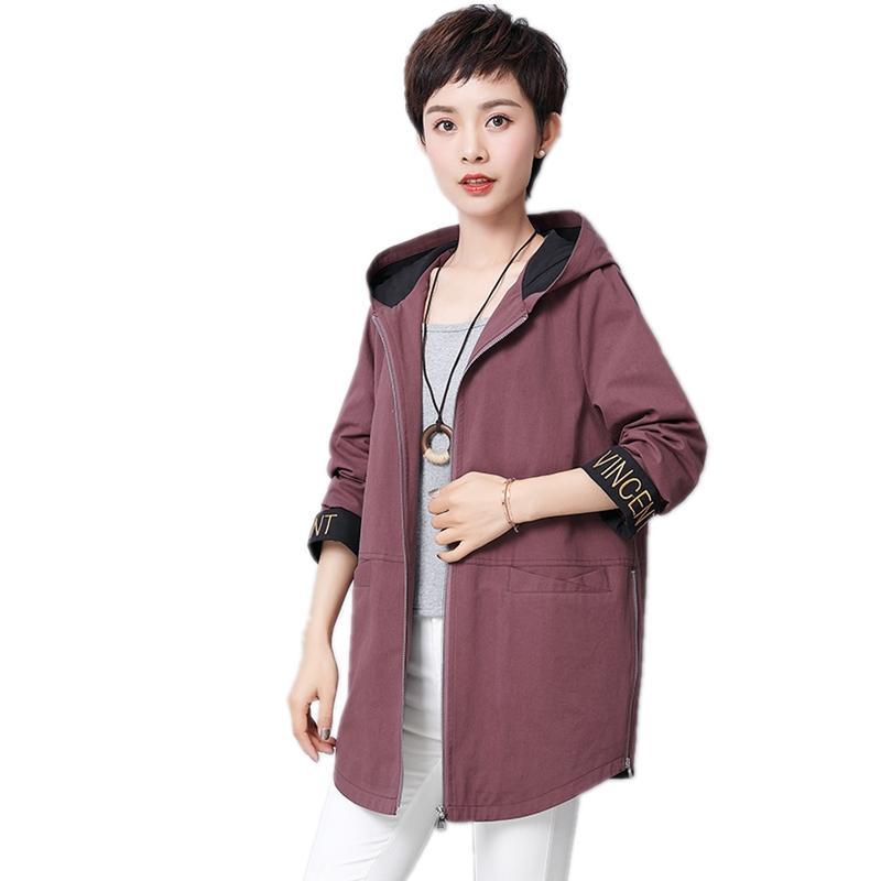 Acheter 2019 Nouvelle Arrivée Femme À Capuche Trench Coat Femmes De Mode  Coton Dames Survêtement, Plus La Taille 5xl Élégant Manteau Femme Tops De  $91.78 Du ...