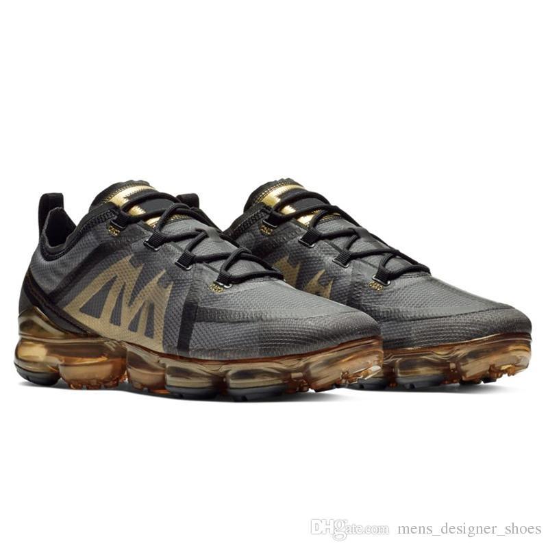 size 40 143bf 24b05 ... Arrivée Coussin Nike Air Vapormax 2019 Flyknit Hommes Femmes Chaussures  De Course Classique Triple Noir Blanc Léger Respirant Designer Sport  Sneakers 36 ...