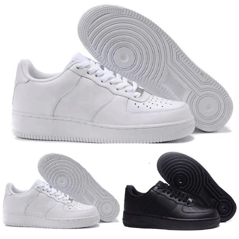 207c875df2b Compre Nike Air Force One 2019 Más Nuevos Hombres Clásicos Mujeres Todo  Blanco Negro Bajo Alto 1 Uno Zapatillas Deportivas Skate Zapatos Casuales  EUR SZ36 ...