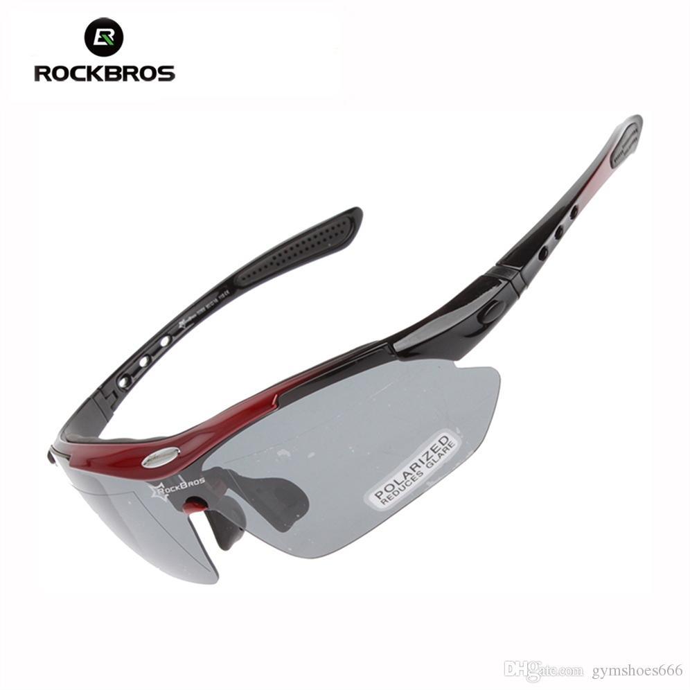 363daa4e177ea Compre RockBros Polarized Ciclismo Óculos Óculos De Proteção Ao Ar Livre  Esportes Pesca Pesca Camping Óculos De Bicicleta UV400 Óculos De Sol Com 5  Lentes ...