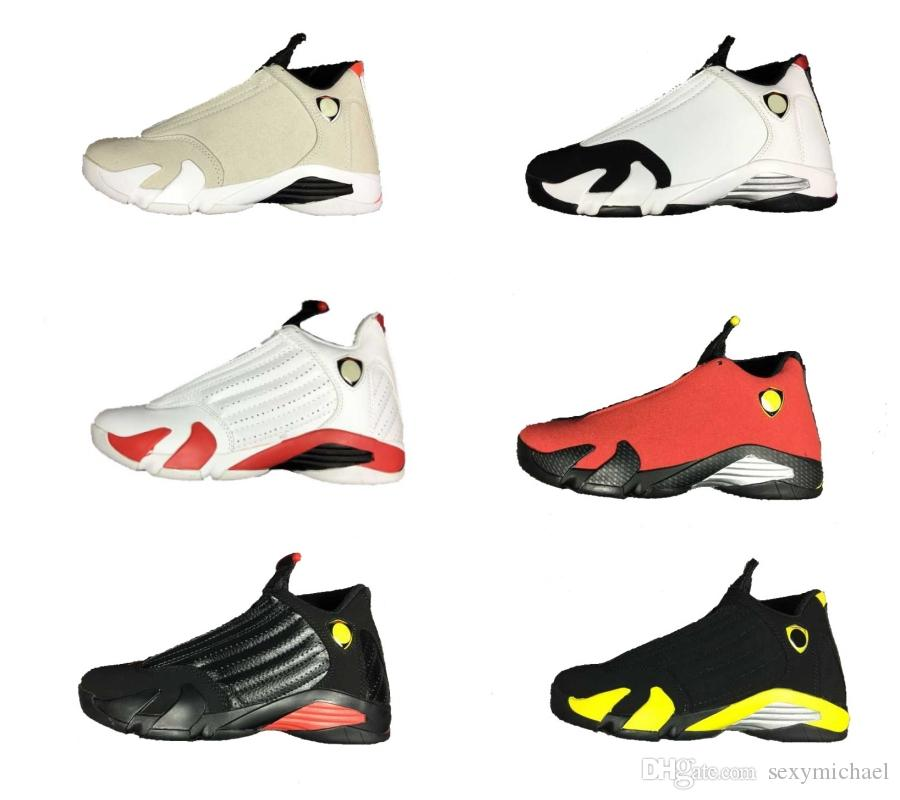info for 6bdbf 8ee7b 14 Mens Women 14s Basketball Shoes Desert Sand Last Shot Red Car Shape White  Black Toe Thunder With Box Gym Mens Trainers Jordans Sneakers Sneakers Sale  ...