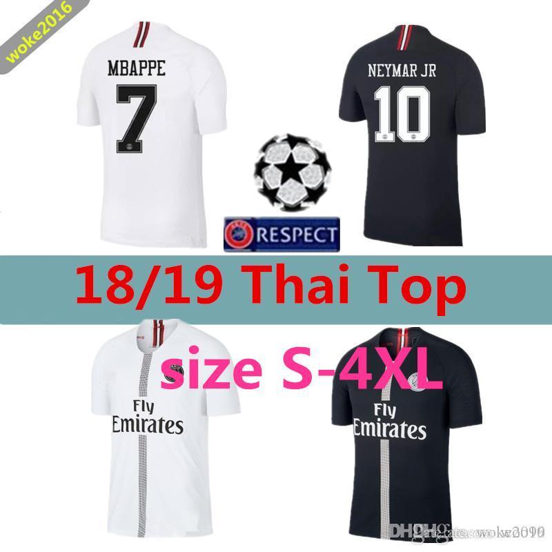 be695d8b3 S-4XL 2018 Psg Home Jerseys 18 19 Champions League MBAPPE CAVANI ...