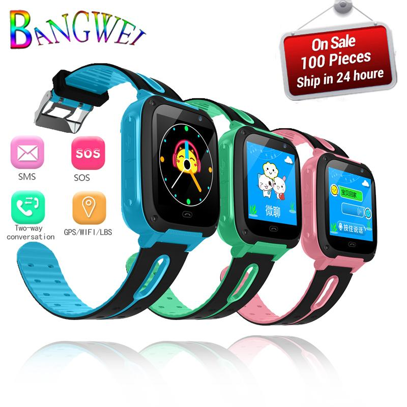 2019 BANGWEI Children Smart Watch Baby Watch LBS Position Tracker SOS Emergency Phone Call Girl Boy For 2g/3g/4g SIM Card