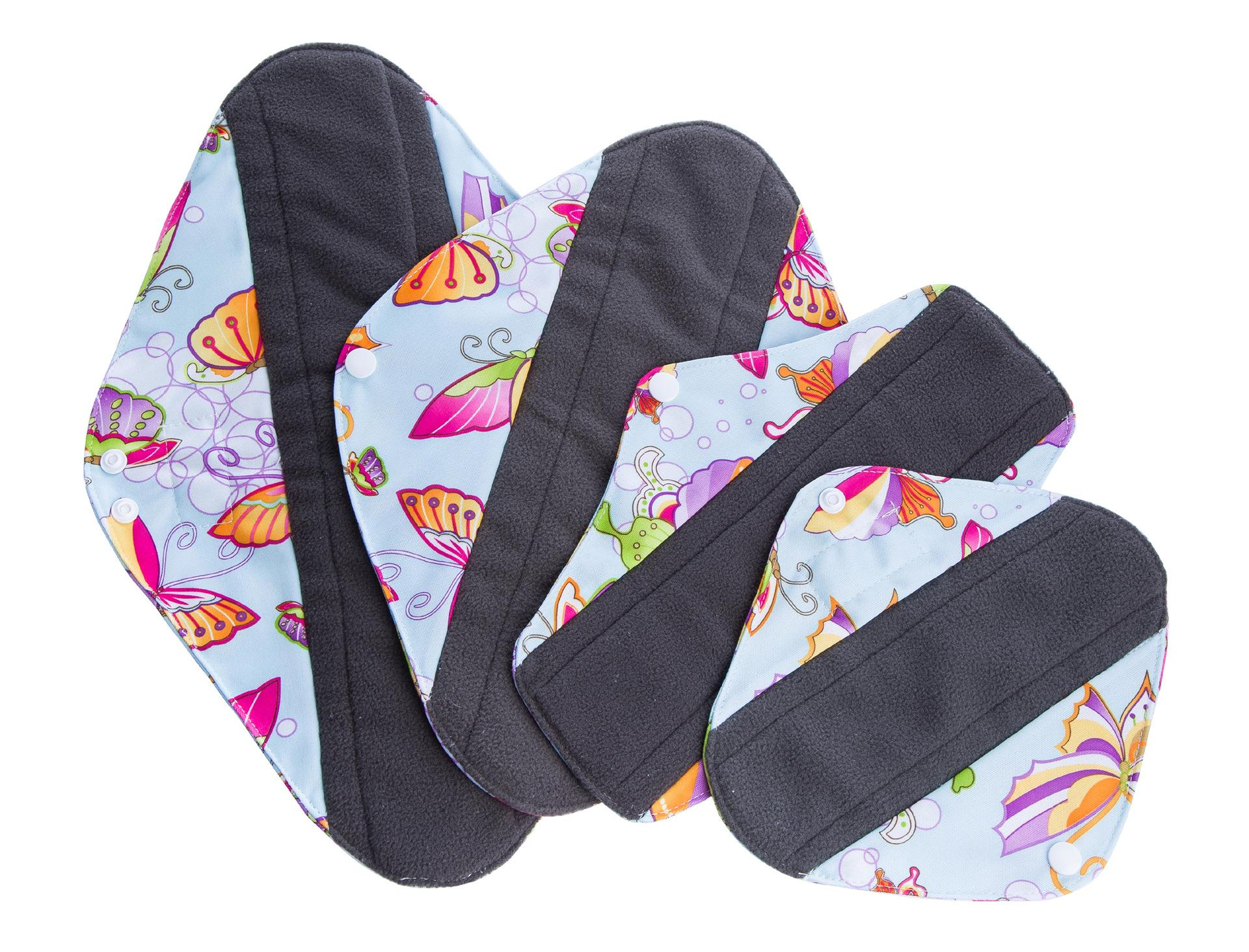 Bamboo Reusable Sanitary Pads - Cloth Sanitary Pads | Bladder Support &  Incontinence |Menstrual Pads -4 Size