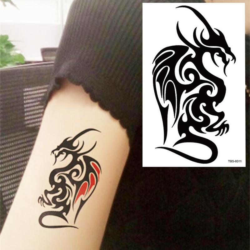 Black Dragon Totem Tattoo Body Art 3D Waterproof Temporary Tattoos ...