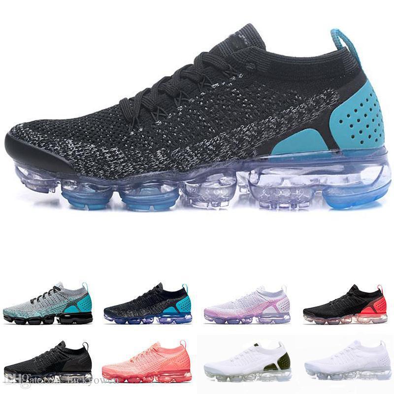nike air max airmax vapormax 2018 Nouvelles couleurs 2.0 Fly Knit Fluorescence Vert Sport Chaussures de course pour Haute qualité 2 Rétro Designer