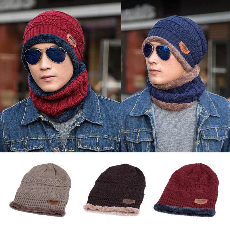 a70efde773a 2019 Set Winter Warm Hat+Scarf Women Ladies Wooly Thick Knit Hat And Scarf  Set Knitted New From Duriang