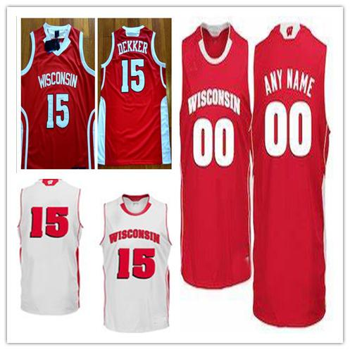 3fc9cf9bf30a 2019 Custom Wisconsin Badgers Basketball Jersey 0 D Mitrik Trice 22 Ethan  Happ 34 Brad Davison NCAA Stitched Any Name Number MEN WOMEN YOUTH From ...