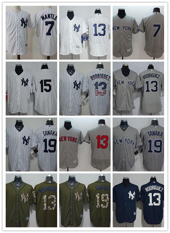 new arrival c2aee f9126 custom Men s women youth New York Yankees Jersey #7 Mickey Mantle 13 Alex  Rodriguez 15 Thurman Munson 19 Masahiro TanakaBaseball Jerseys