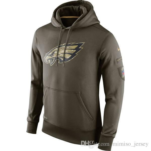 2019 Men S Philadelphia Eagles Jersey Fashion Movement Olive Salute To  Service Pullover Football Hoodie 2018 2019 NEW From Luxi jersey e07a97146