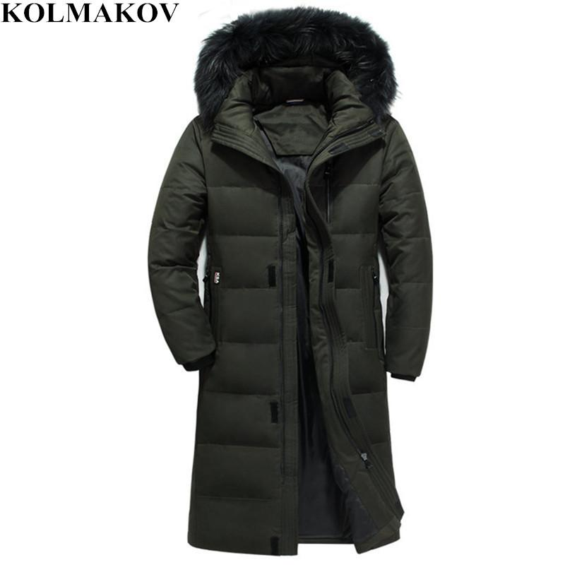 2019 Kolmakov New Mens Duck Down Coats Winter Mens Goose Down Jacket For Big Tall Man X Long Parkas S 6xl Coats With Detachable Hat From Combocai