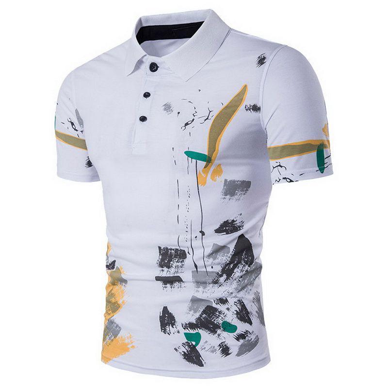 46f0f111f04 Laamei Men Polo Shirt Casual Short Sleeve Male Cotton Polo Shirt ...