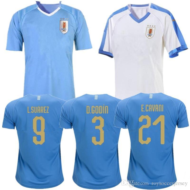 bba60088b9235 2019 Copa América Uruguay Camisetas De Fútbol 19 20 Casa SUAREZ CAVANI  TORREIRA Camiseta De Fútbol D.GODIN Blanco Visitante Kits De La Camiseta De  Fútbol ...