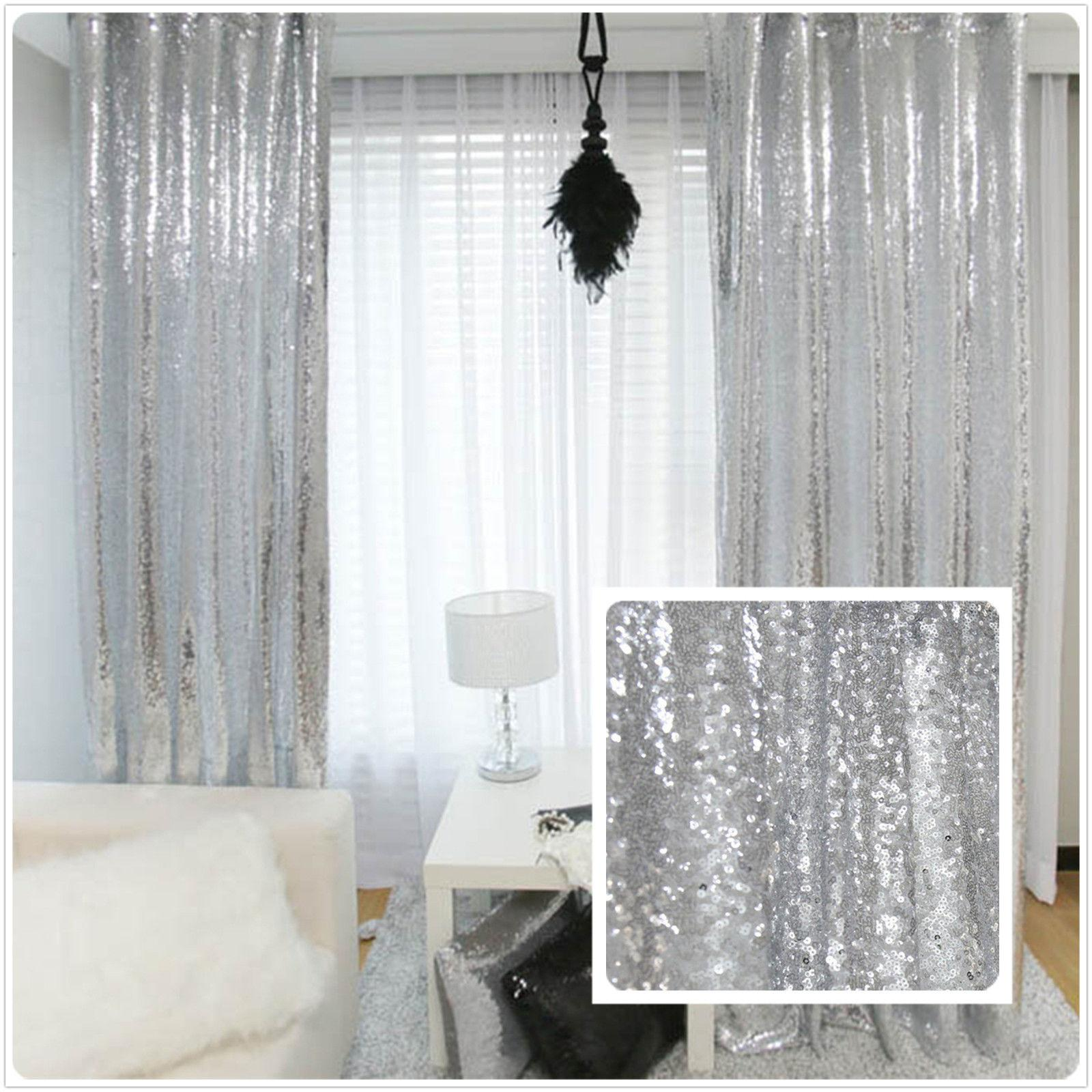 4FT 6FT paillettes Foto del contesto Cloth Background Curtain Wedding Photo Booth Fotografia