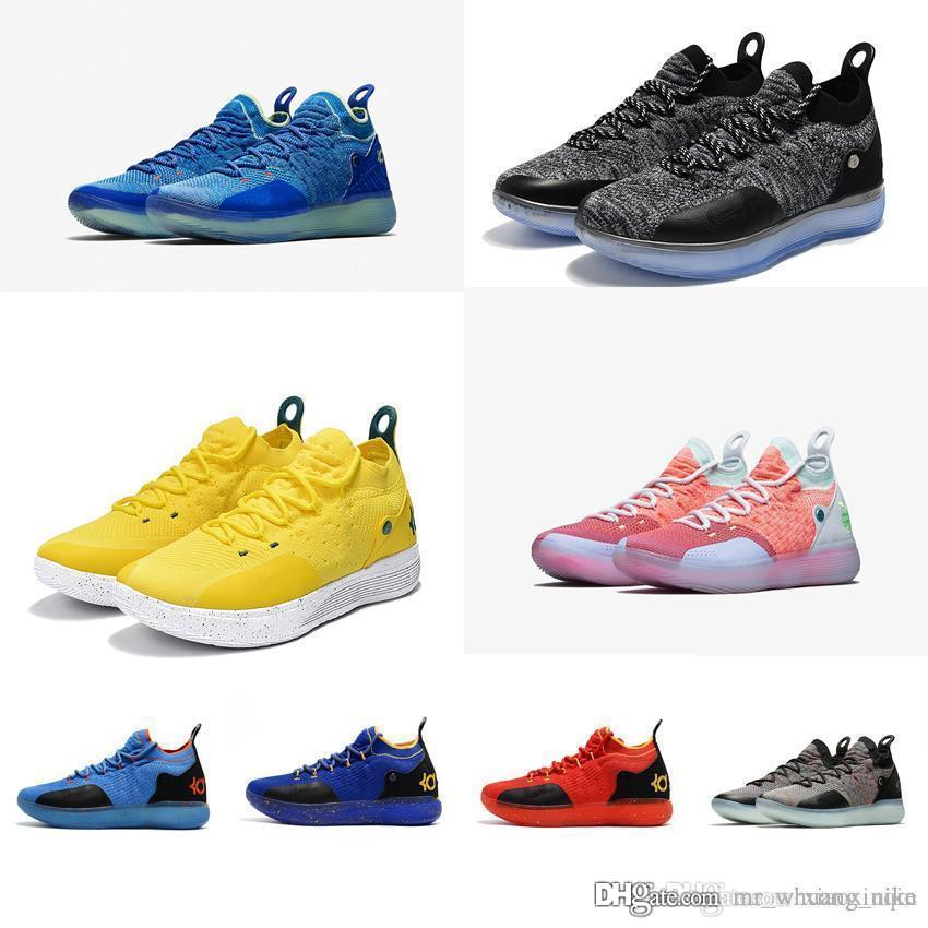 f712562e49a53 2019 Cheap Women KD 11 Basketball Shoes For Sale Oreo Black Easter Blue  Yellow Red Boys Girls Youth Kids Kevin Durant XI Sneakers Tennis For Sale  From ...