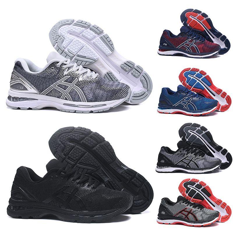 e124df1efa Compre Chaussures Gel Asics Designer GEL Nimbus 20 Estabilidade Mens  Running Shoes Preto Branco Azul Vermelho Mens Respirável Tênis Sapatilhas  Dos ...