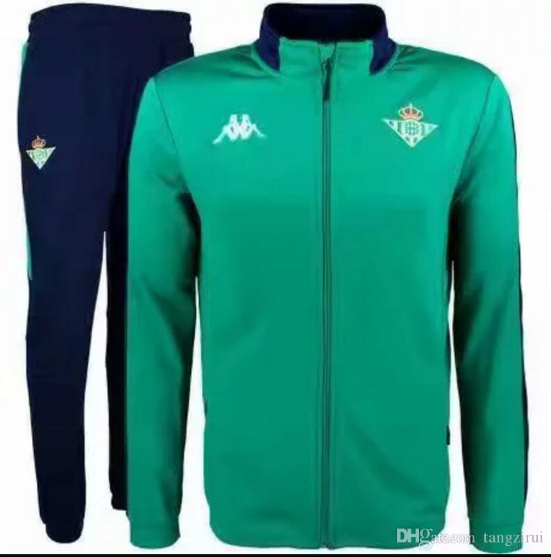 8fd3bf5ee Top Quality 2018 2019 Real Soccer Jacket Kit Joaquin Sanabria Soccer ...