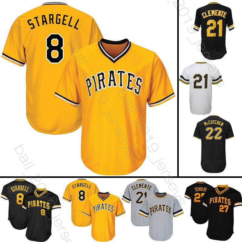buy online d0299 771e2 8 Stargell Majestic 21 Roberto Clemente jersey Pittsburgh 29 Francisco  Cervelli Pirates jerseys 2019 new baseball jerseys