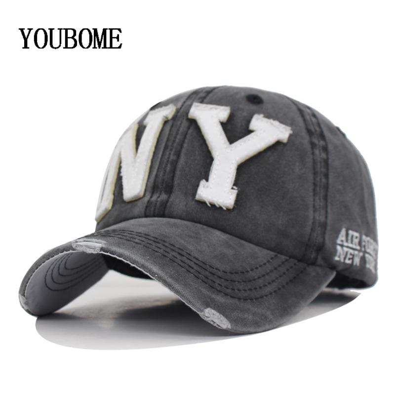 52fae01e58c YOUBOME New Washed Cotton Baseball Cap Men Snapback Cpas Hats For ...
