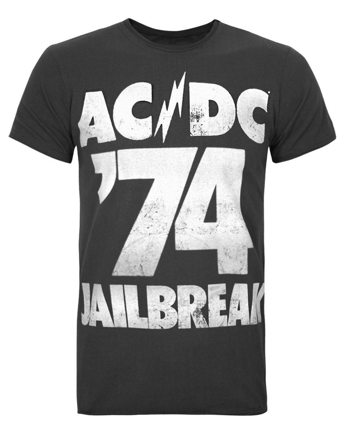 8f5f546cc28f Amplified AC DC Jailbreak Men S T Shirt Wholesale Short Sleeve Fashion  Summer New Brand Clothing Personality 2018 Brand T Shirt Shop Design Crazy T  Shirts ...