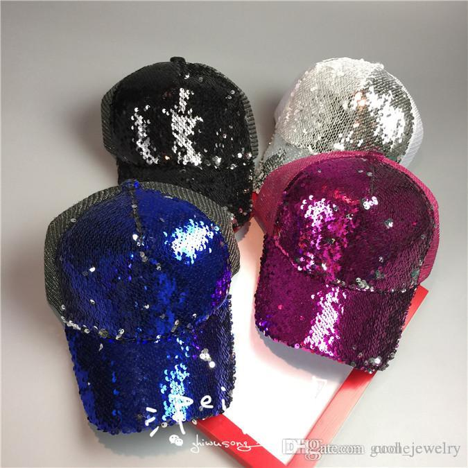 Popular style ball caps Cute baseball cap mesh caps summer super shiny ball caps free shipping