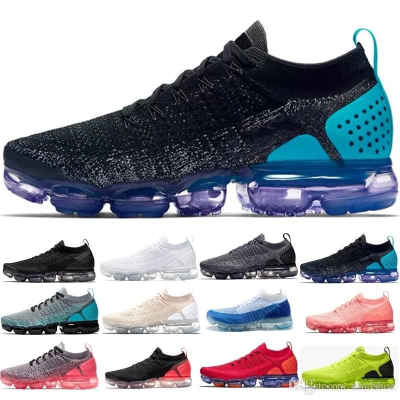 348fa0164 Compre Nike Air Max Vapormax 2018 Nuevo Rainbow VaporMax SEA VERDADERO  Zapatos De Mujer Shock Running Para Hombres De Moda De Calidad Real Vapor  Casual ...