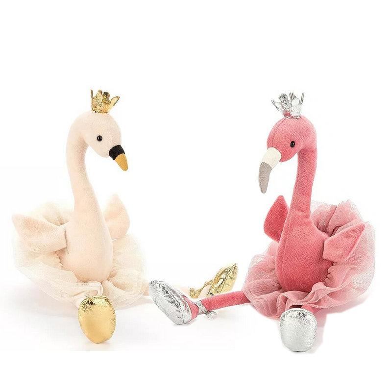 5d10dc75800e 2019 Cute Swan & Flamingo Plush Toys With Crown, Animal Plush Toys,  Children'S Toys, Baby Toys, Home Decor From Lakeball, $14.71 | DHgate.Com