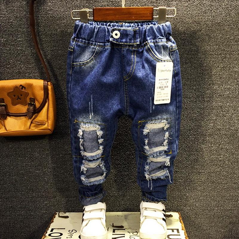 7906b8d7d New Arrival 2018 Autumn Children Boys Casual Jeans Kids Denim Pants Boys  Fashion Ripped Jeans 2 7 Years ! Baby Boy Black Jeans Boys Jeans Elastic  Waist From ...