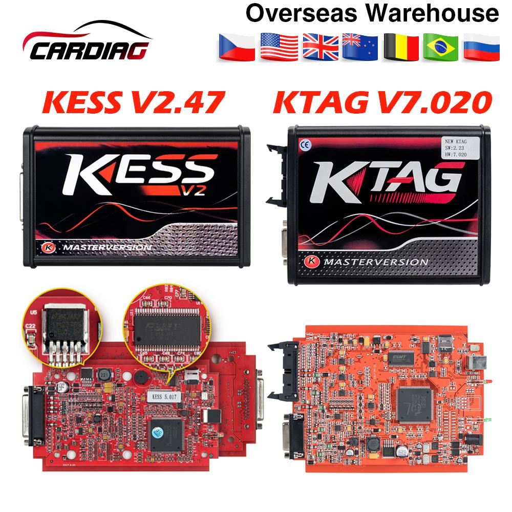 Online Kess V2 47 EU Red Kess V5 017 OBD2 Manager Tuning Kit KTAG V7 020  Kess V2 5 017 BDM Frame K-TAG 7 020 ECU Programmer