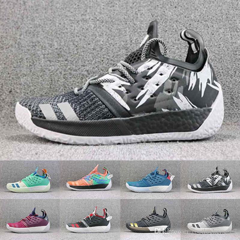 eb2fefe8ca5b 2019 Newest James Harden Vol.2 Basketball Shoes Fashion Luxury 2018 MVP  Mens Designer Sports Training Sneakers Running Shoes Size 40 46 Men  Basketball Shoes ...