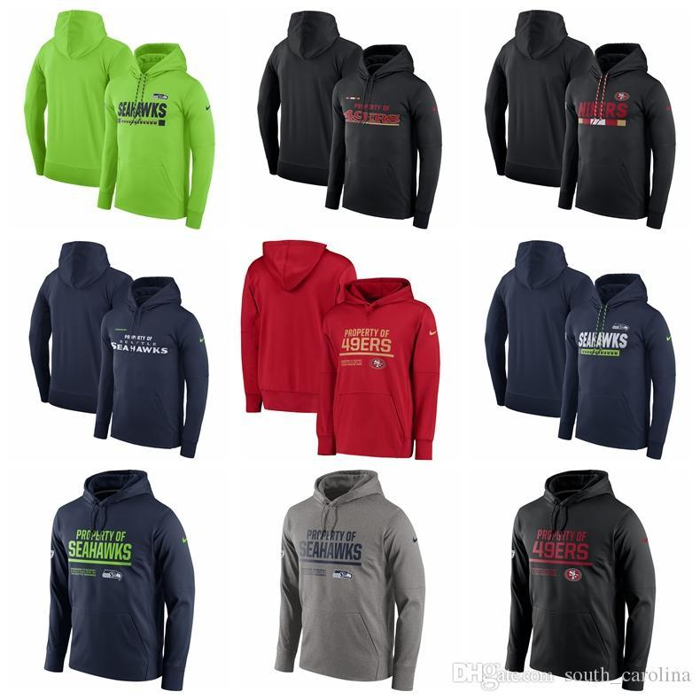 fb89418b 2018 Men Women Kid San Francisco 49ers Hoodies Seattle Seahawks Circuit  Property Of Performance Pullover Hoodies Any Custom Name Number
