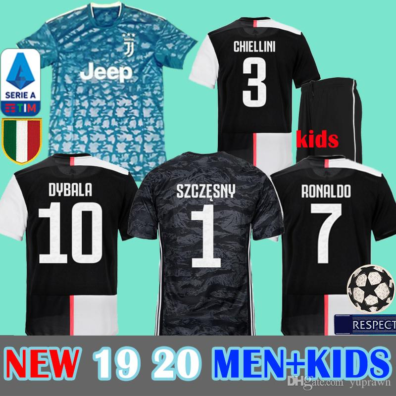 c71a82883 2019 2019 2020 Juventus RONALDO Soccer Jersey Football Shirt Uniforms  Szczesny GOALKEEPER Bernardeschi 19 20 JUVE DYBALA Kids SPORTS Kits Sets  From Yuprawn