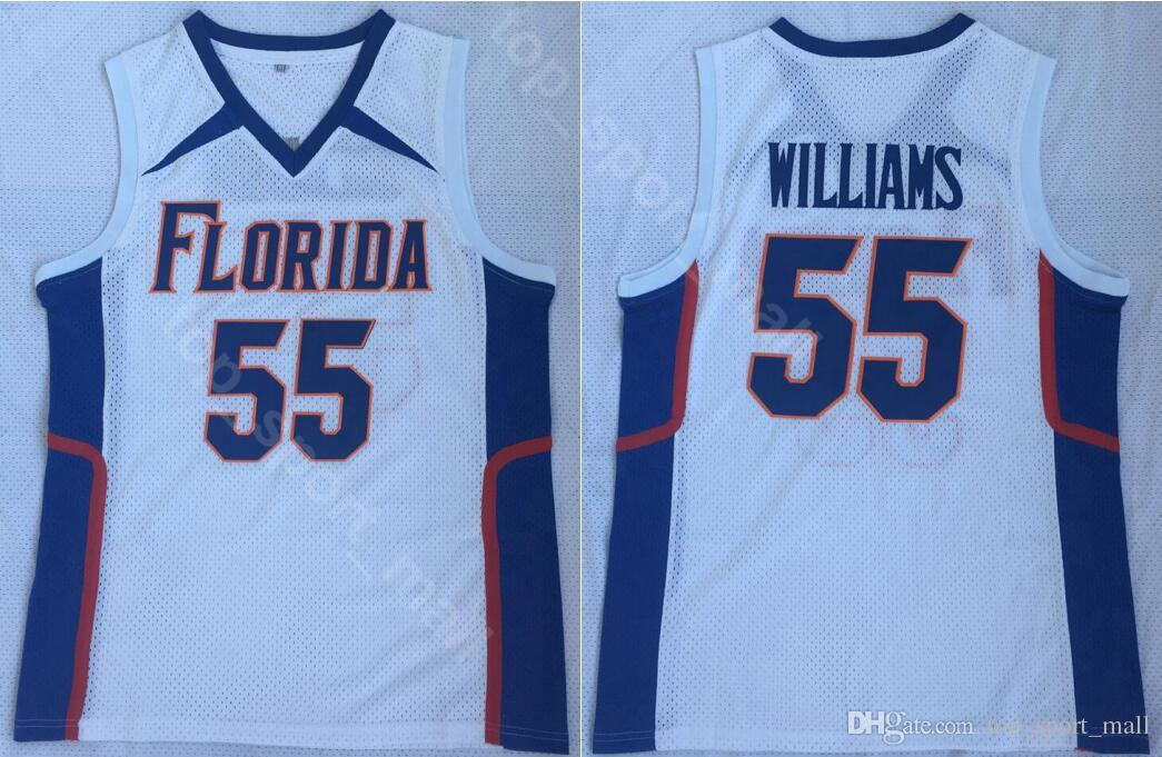 free shipping 41282 a1fbe Jason Williams Jersey 55 Men College Florida Gators UFL Double Basketball  Jerseys Team White Color Breathable Embroidery And Sewing