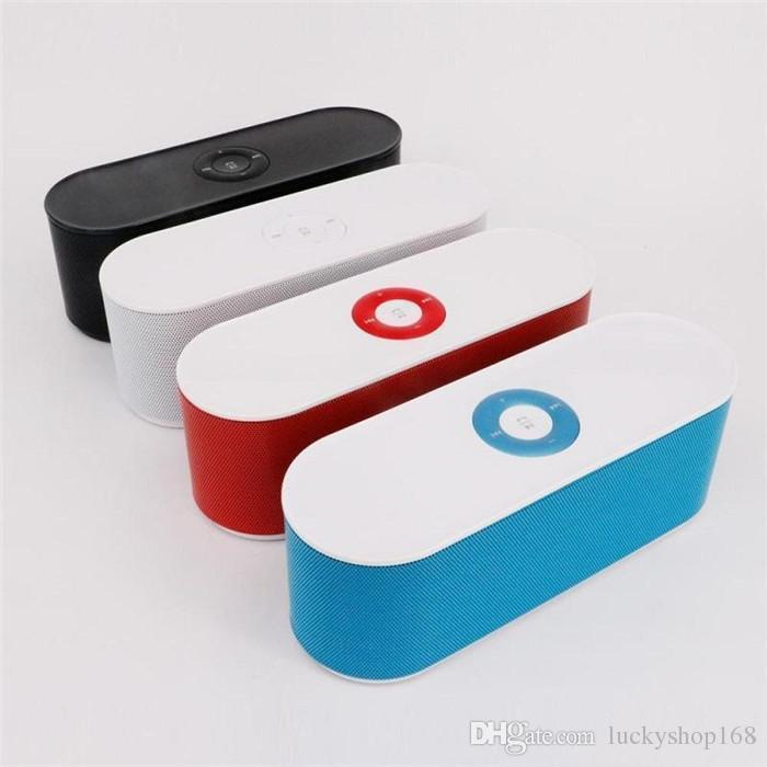 New S207 Bluetooth Speaker Portable Wireless Loudspeaker Handsfree Support TF Card USB AUX Good Sound Audio Player Free DHL