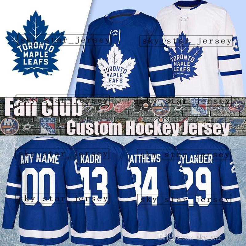 newest 6e04c 0692c Custom hockey jerseys Toronto Maple Leafs jersey James Van Riemsdyk 31  Frederik Andersen jersey 28 Connor Brown 23 Travis Dermott 63 Tyler E