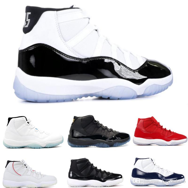 4d369ce62a3323 2018 Concord 11s Mens Basketball Shoes 72-10 11 Cap And Gown Black White  Space Jam Gym Red Women Sneakers Legend Blue Sports Trainers Men Sports Shoes  Men ...