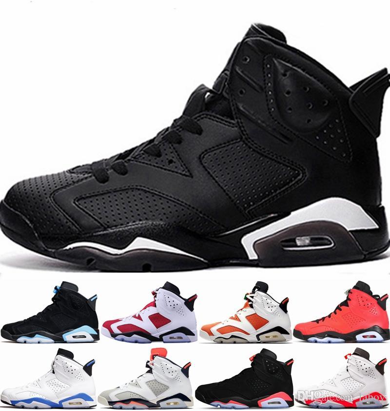 cefccdfe736dfd Designer Men 6 6s Basketball Shoes Tinker UNC Blue Black Cat White ...