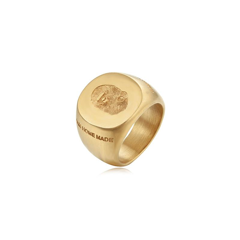 2019 Hot Limited Fashion Unisex Adult Gold Monkey Head Jewelry Cosplay Metal Hip Hop Ape Ring Gift