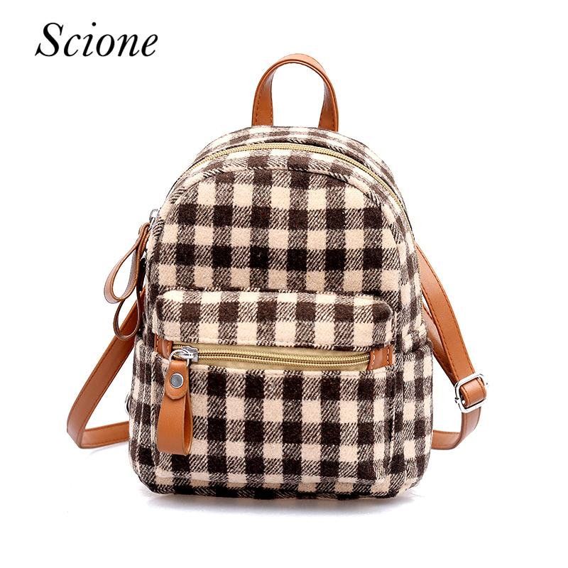 Ladies Colorful Plaid Backpack School Bags For Teenagers Girls Fashion  Backpack Simple Travel Bags Fashion Wild Mini College Backpacks Girl  Backpacks From ... f3958f0e2338a