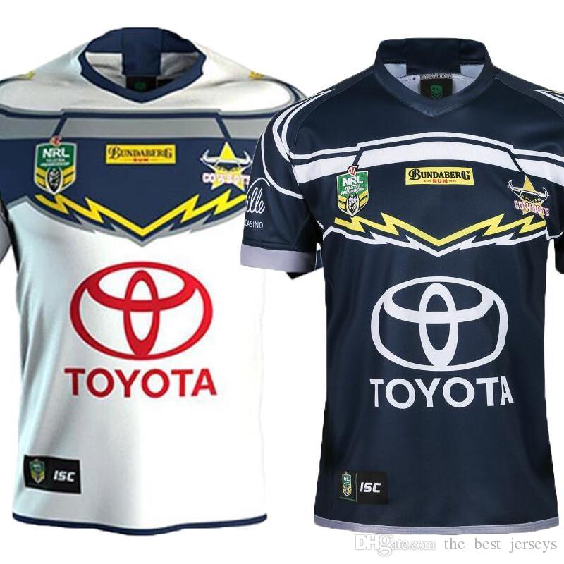 2019 Top Quality North Queensland Cowboys Rugby Jerseys 2018 Home Away  Jersey NRL National Rugby League Nrl Jersey Australia Shirt S 3xl From ... 76be178ef