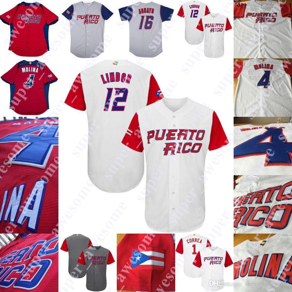 differently 3a227 ae4bc Puerto Rico Baseball Jersey Yadier Molina Ivan Rodriguez Carlos Correa  Enrique Hernandez Javier Baez Bernie Williams Seth Lugo Alex Cora