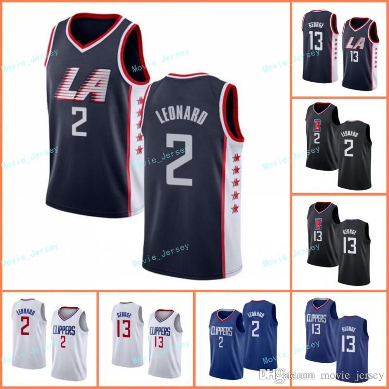 premium selection 2d8b2 8edf8 Newest LA Clippers Los 1 Angeles Kawhi 2 Leonard jersey Paul 13 George  Basketball Jerseys Free Shiping Size S-3XL Black White Navy