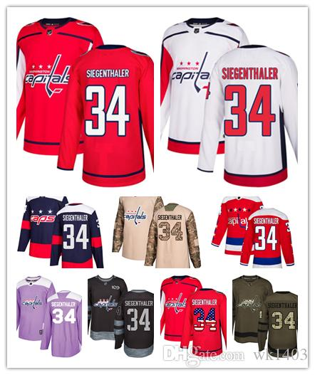 2019 Washington Capital Jerseys  34 Jonas Siegenthaler Jersey Hockey Men  Women Youth White Red Alternate Premier Blue Stadium Stiched Jerseys From  Wk1403 6d0126486