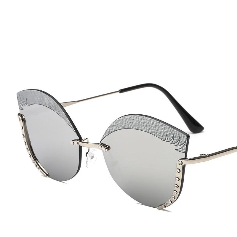dcaa004a44 2019 Fashion Sunglasses Trendy Brand Luxury Crystal Eyewear Designer ...