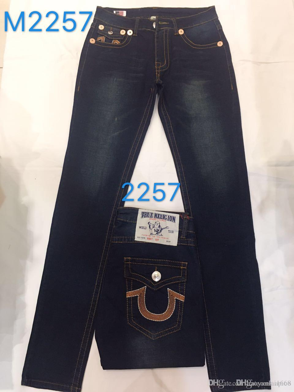 3efe795a8 2019 19ss New Men S True Jeans ROBIN High Quality Trousers Denim Designer  Dark Solid Color Straight Tr Jeans For Men Pants From Haoyunlai1668