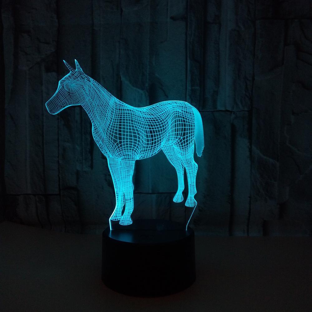 3d Vendre Nouveau Modèle Led Lampe Cadeau Bureau Toucher Vision Ambiance Petit Poney Coloré Chaleur T1JFKcl