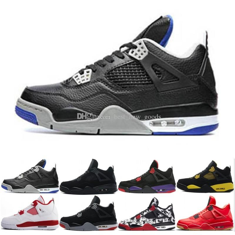 b894975d0f5473 2019 4 4s Men Basketball Shoes Pure Money Oreo White Cement Fire Red Alternate  Motorsport Premium Black Cat Royalty Sports Shoes Sneaker From  Best new goods ...