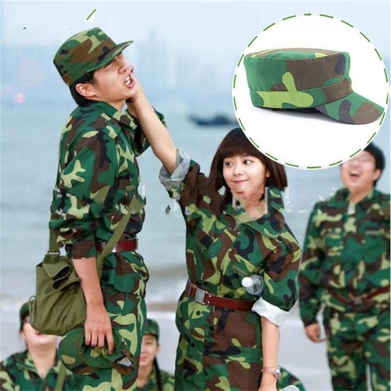 Student Military Training Cap Outdoor Jungle Camouflage Hat Cotton Material Sweat Absorption Camping Light Weight Hot Sales 3dc C1